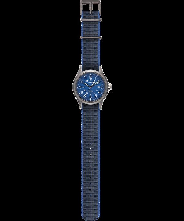 Zegarek Allied z kopertą 40 mm i paskiem z elastycznego materiału Srebrny/Czarny large