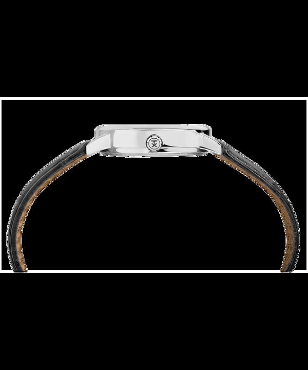 Zegarek Easy Reader z kopertą 30 mm i skórzanym paskiem  Chrome/Black/White large