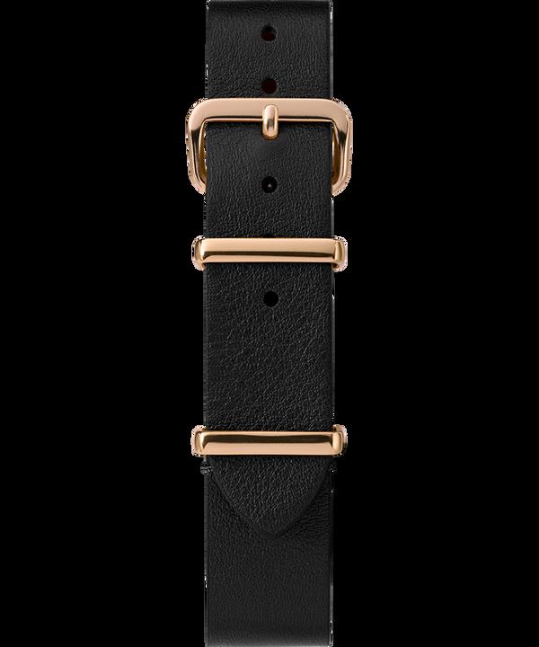 16mm Leather Slip-Thru Single Layer Strap Czarny large