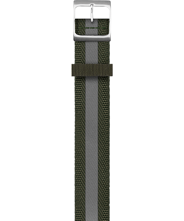 Dwustronny pasek z podwójnym splotem Zielony large