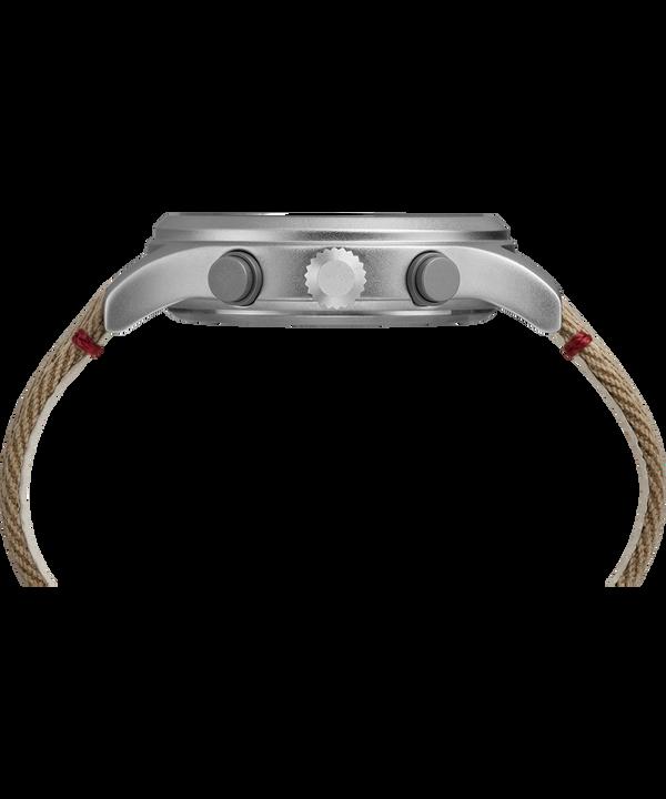 Zegarek Allied Chronograph z kopertą 42 mm i paskiem materiałowym Silver-Tone/Tan/Natural large