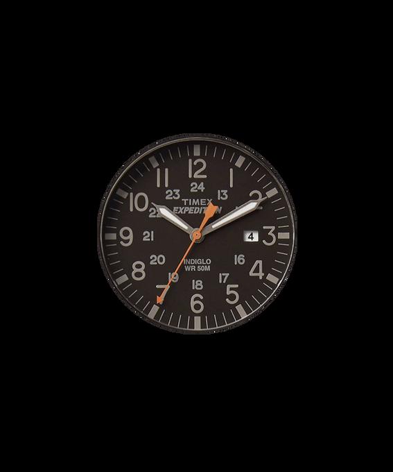 Czarny tarcza / Pomarańczowa wskazówka sekundnika  large