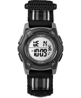 Cyfrowy zegarek młodzieżowy z kopertą 35mm i dwuwarstwowym paskiem nylonowym  Szary/Czarny large
