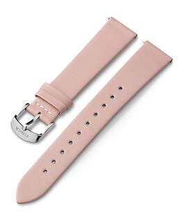 Skórzany pasek 18 mm ze sprzączką w kolorze srebrnym Różowy large