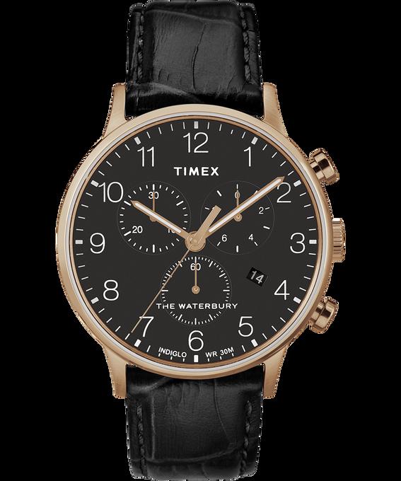 Waterbury-40mm-Classic-Chrono-Leather-Strap-Watch Rose-Gold-Tone/Black large