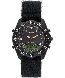 Zegarek NSN 1K 39 mm z materiałowym paskiem Czarny large