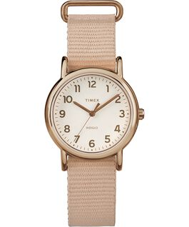 Weekender Pastels 31mm Nylon Strap Watch Rose-Gold-Tone/Pink/Cream large