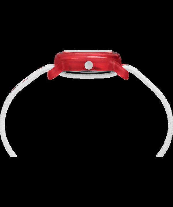 Timex x Peanuts - Snoopy i Serca z kopertą 28 mm i paskiem z elastycznego materiału Red/White large