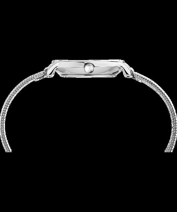 Zegarek Milano Oval 24 mm z siatkową bransoletą Srebrny/Stalowy large