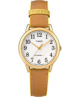 Easy-Reader-30mm-Exclusive-Color-Pop-Leather-Womens-Watch Złoty/Jasnobrązowy/Żółty large
