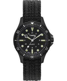 Zegarek Navi Harbor z kopertą 38 mm i materiałowym paskiem Czarny/Czarny large