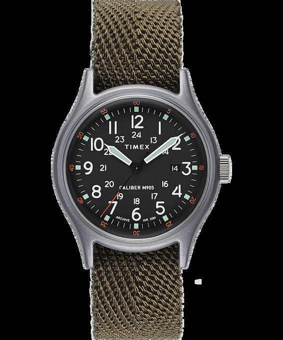 Zegarek MK1 z kopertą 40 mm i paskiem materiałowym W kolorze srebra/Zielony/Czarny large