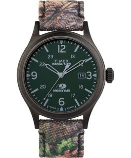 Timex x Mossy Oak Expedition Scout 40mm Fabric Strap Watch Black/Brown large