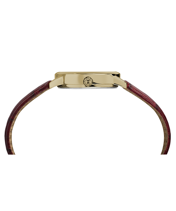 Zegarek Easy Reader z kopertą 30 mm i skórzanym paskiem Gold-Tone/Red/Cream large