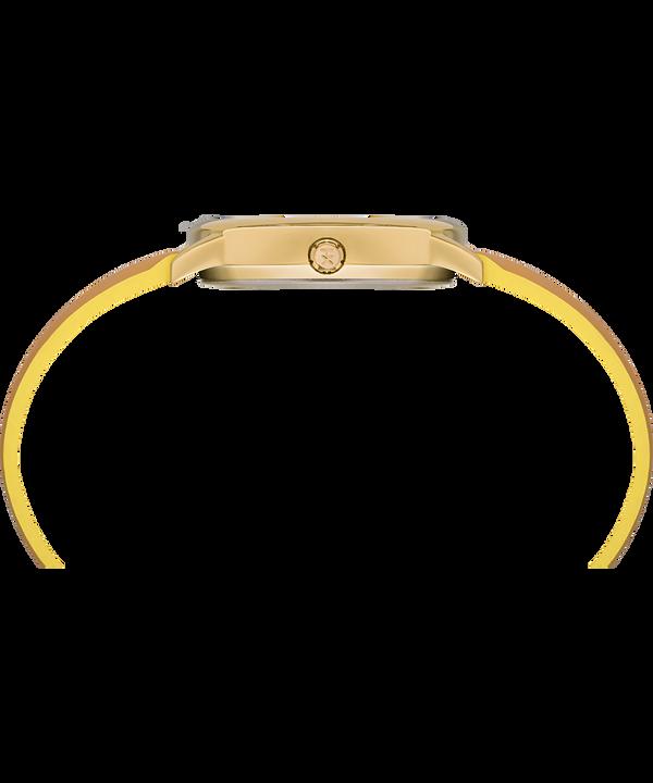 Zegarek Easy Reader Color Pop z kopertą 30 mm i skórzanym paskiem Złoty/Jasnobrązowy/Żółty large