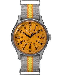 MK1 California 40mm Fabric Strap Watch Silver-Tone/Gray/Orange large