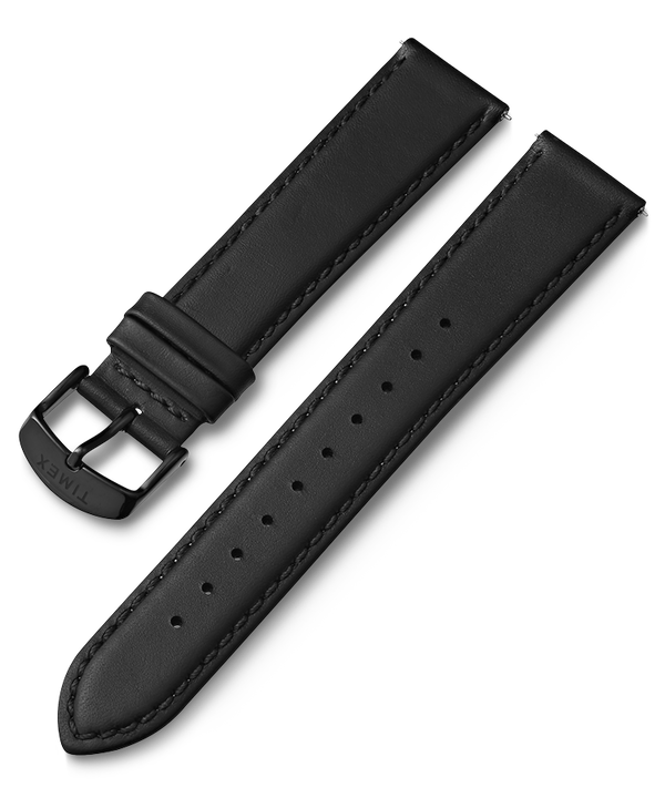 20mm Quick Release Leather Strap Czarny large