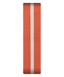 Pomarańczowo-biały nylonowy przewlekany pasek  large