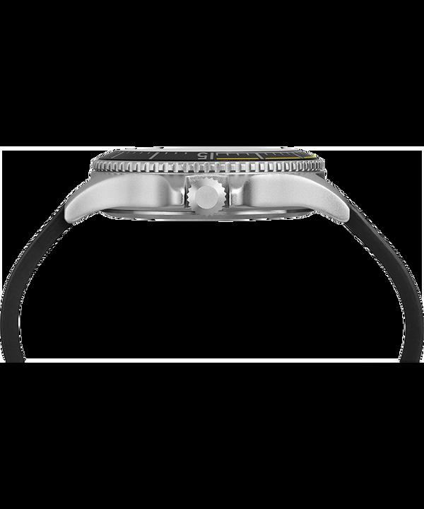 Zegarek Expedition Ranger Solar z kopertą 43 mm i skórzanym paskiem Srebrny/Czarny large