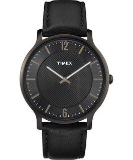 Metropolitan Mens 40mm Leather Watch Black large