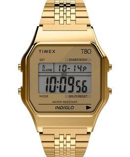 Zegarek Timex T80 34 mm ze stalową bransoletą Złoty large