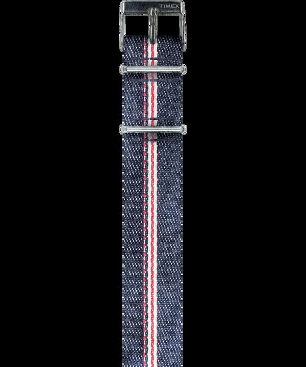 Dekatyzowany przewlekany pasek z denimu selvedge ze wstążką  large