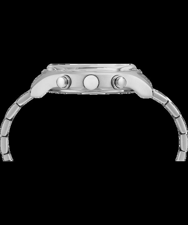 Zegarek MK1 z chronografem, stalową kopertą 42 mm i bransoletą Stainless-Steel/White large