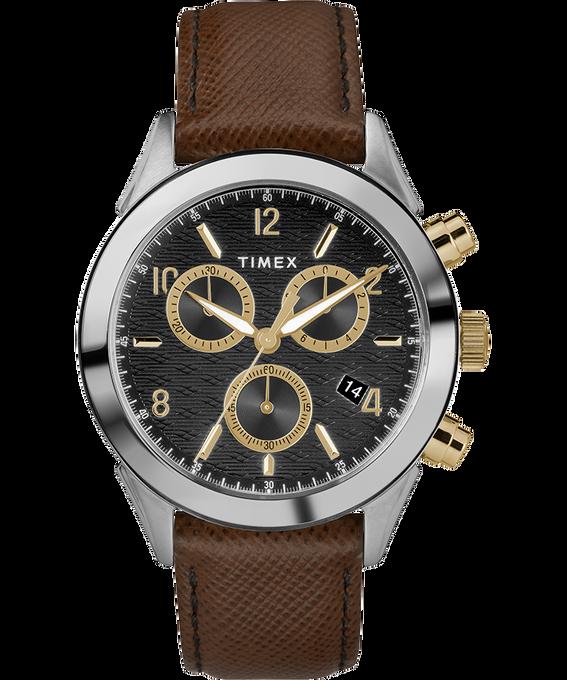 Zegarek męski Torrington Chronograph z kopertą 40 mm i skórzanym paskiem Dwukolorowy/Brązowy/Czarny/W kolorze złota large