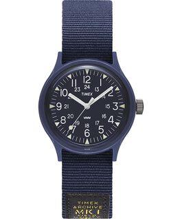 Zegarek MK1 Military z kopertą 36 mm i paskiem z grogramu Niebieski large