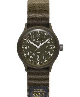 Zegarek MK1 Military z kopertą 36 mm i paskiem z grogramu Czarny/Zielony large