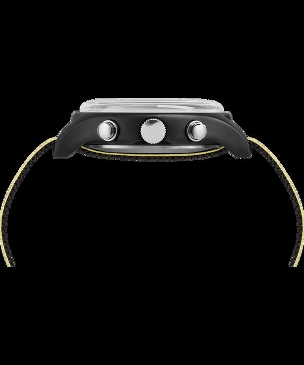 Zegarek MK1 z chronografem, kopertą aluminiową 40 mm i odblaskowym materiałowym paskiem  Black large