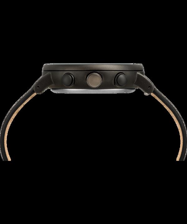 Fairfield Chronograph Supernova™ 41mm Leather Strap Watch Black/Black large
