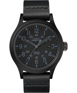 Zegarek Scout z kopertą 40 mm oraz paskiem materiałowym Czarny large