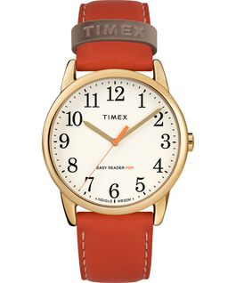 Easy-Reader-38mm-Exclusive-Color-Pop-Leather-Womens-Watch Złoty/Pomarańczowy/Kremowy large