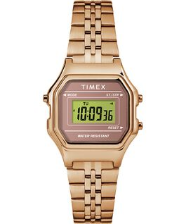 Zegarek Digital Mini z kopertą 27 mm i bransoletą Różowe złoto large