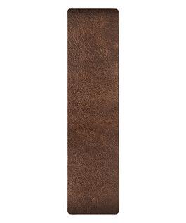 Skórzany pasek przewlekany, brązowy / z krawędzią w kolorze brązu  large