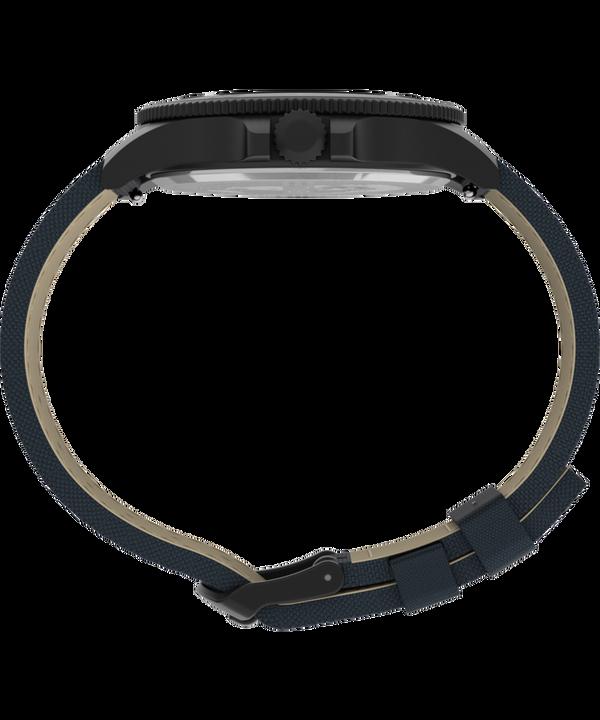 Zegarek Allied® Coastline 43 mm z paskiem materiałowym Czarny/Niebieski large