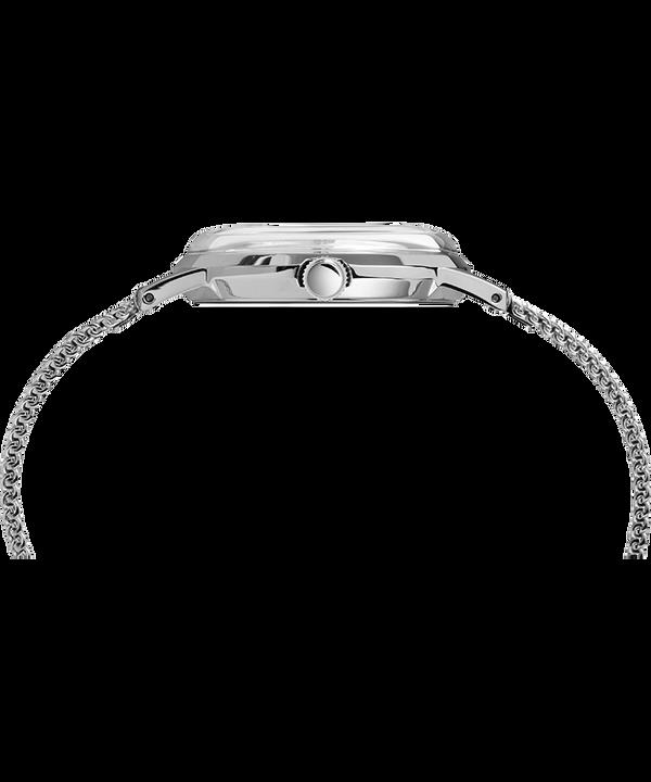 Marlin® Hand-Wound 34mm Stainless Steel Mesh Band Watch Stal nierdzewna/Biały large