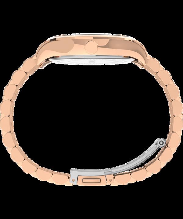 Zegarek Neon 34 mm ze stalową bransoletą Różowe złoto/Kremowy large