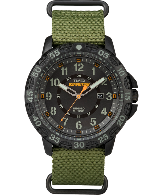 Expedition Gallatin 44mm Nylon Strap Watch Black/Green large