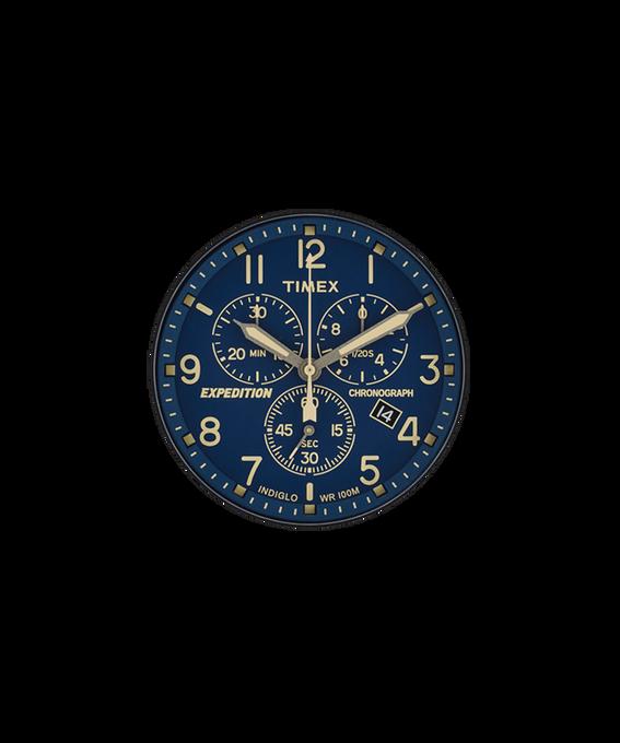Niebieska tarcza / Kremowa wskazówka sekundnika  large