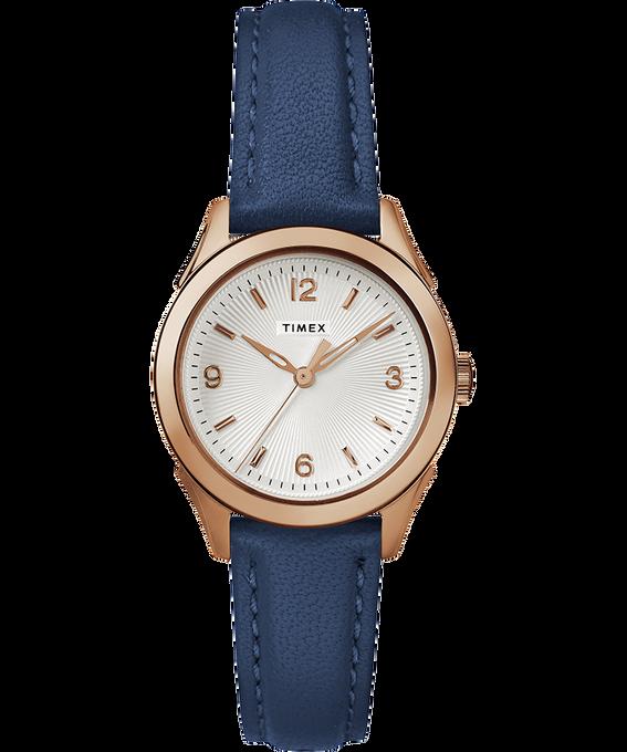 Damski zegarek Torrington z 3 wskazówkami, kopertą 27 mm i skórzanym paskiem W kolorze różowego złota/Niebieski/W kolorze srebra large
