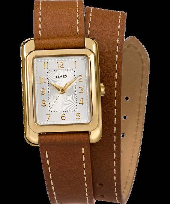 Zegarek Addison Double-Wrap 25 mm z paskiem skórzanym W kolorze złota/Brązowy/W kolorze srebra large