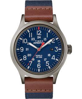 Zegarek Scout z kopertą 40 mm oraz paskiem materiałowym Szary/Niebieski large