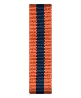 Pomarańczowo-niebieski nylonowy przewlekany pasek  large