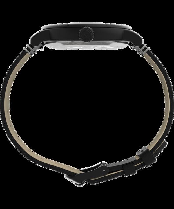 Zegarek Standard Timex® 41 mm z paskiem skórzanym Czarny large