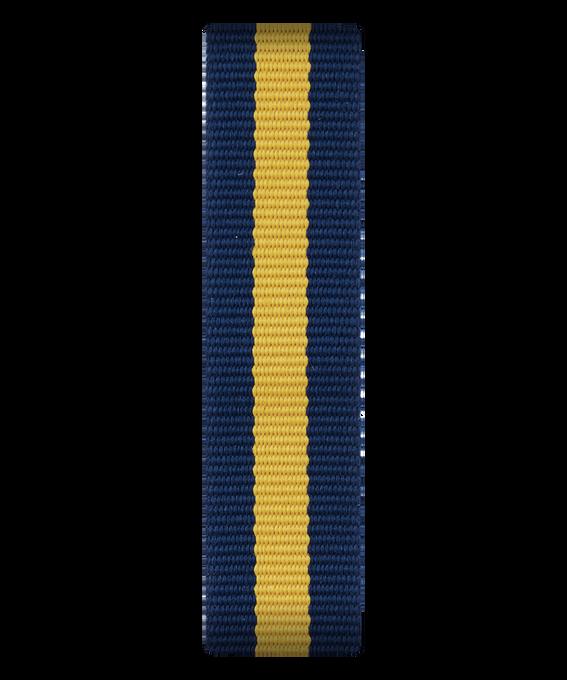 Niebiesko-żółty nylonowy przewlekany pasek  large