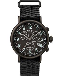Zegarek Standard Chronograph z kopertą 40 mm i paskiem materiałowym Czarny large