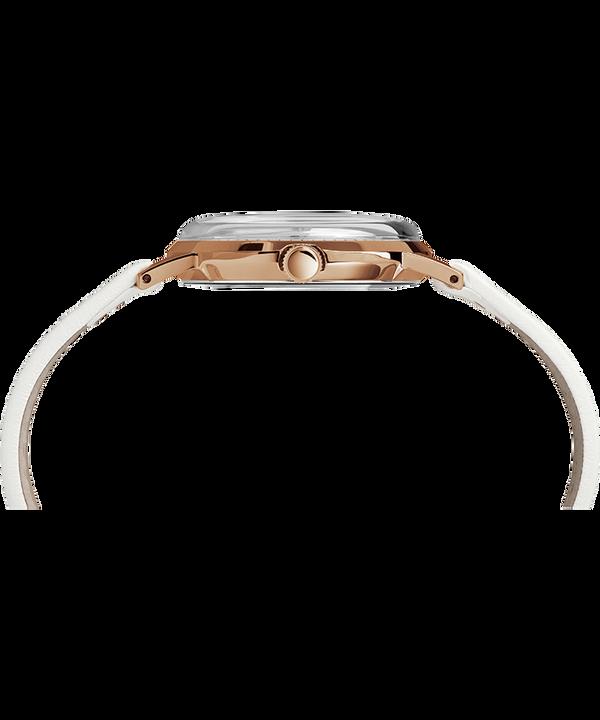 Zegarek Marlin® 34 mm z ręcznym naciągiem i paskiem skórzanym Różowe złoto/Biały large