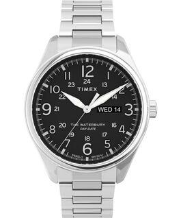Waterbury Traditional 42mm Stainless Steel Bracelet Watch Stainless-Steel/Black large